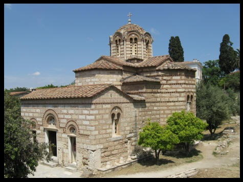 Holy Apostles Church at the Agora in Athens, Greece